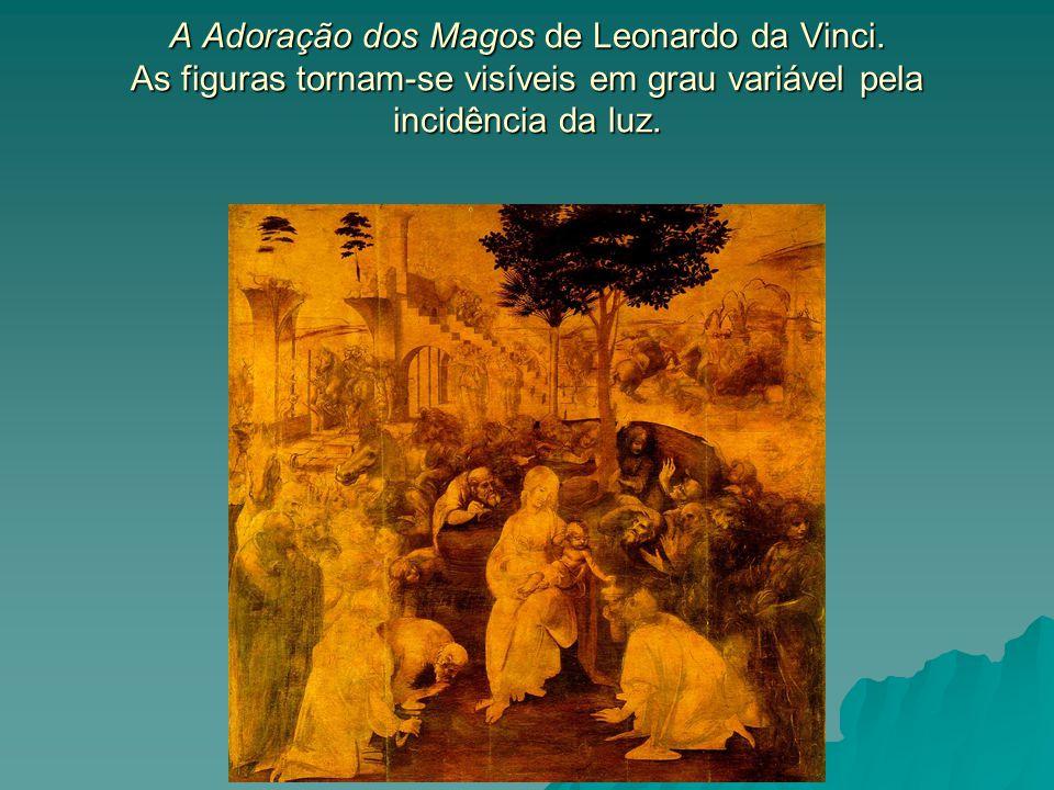 A Adoração dos Magos de Leonardo da Vinci