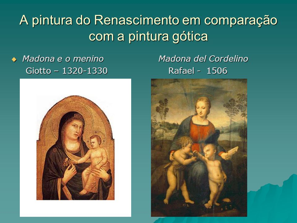 A pintura do Renascimento em comparação com a pintura gótica