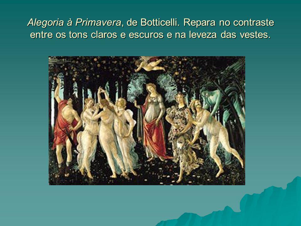 Alegoria à Primavera, de Botticelli
