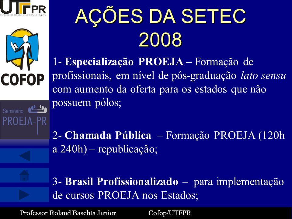 AÇÕES DA SETEC 2008