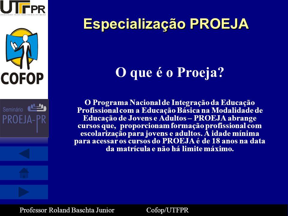 Especialização PROEJA