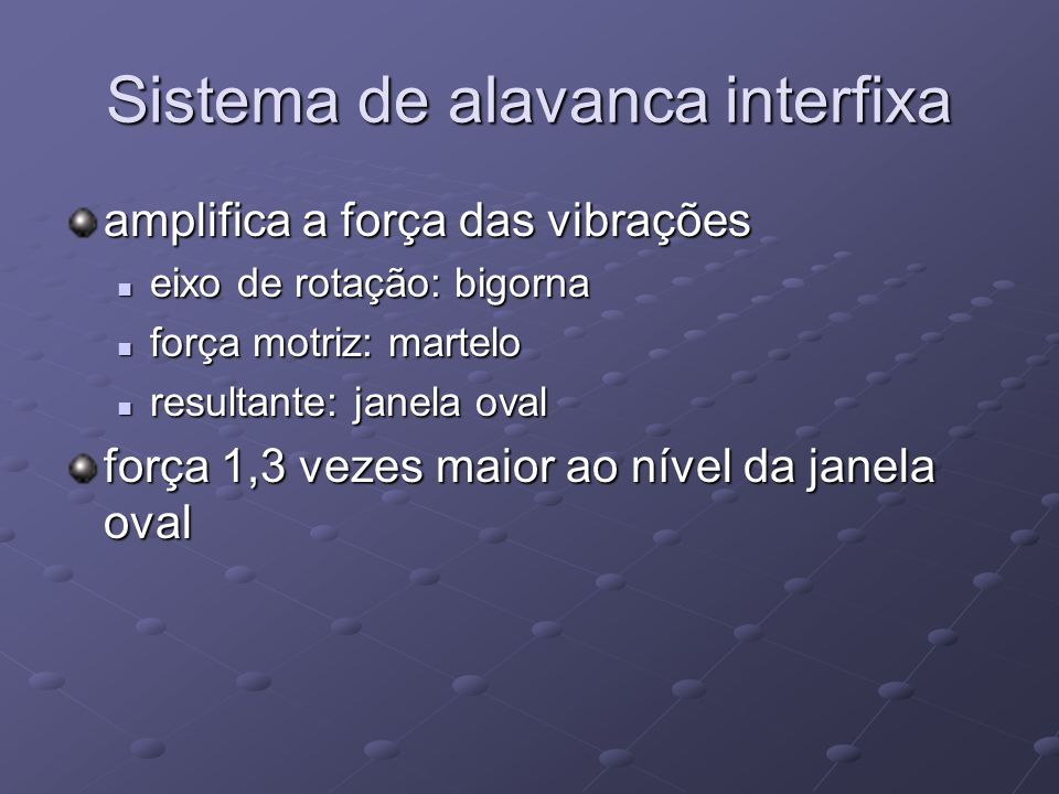 Sistema de alavanca interfixa