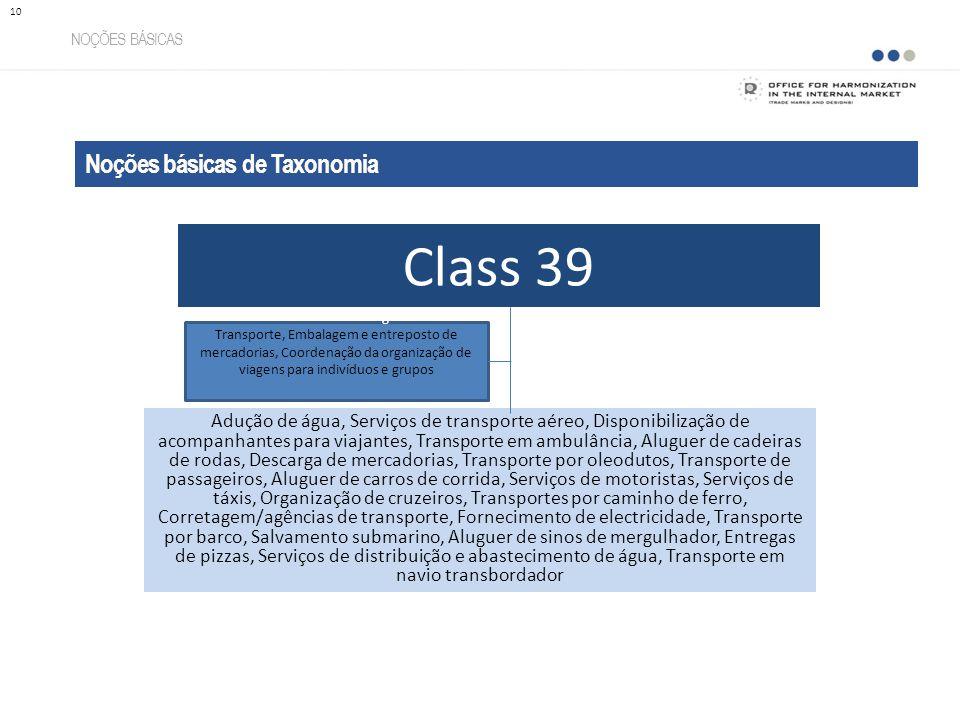 Class 39 Noções básicas de Taxonomia