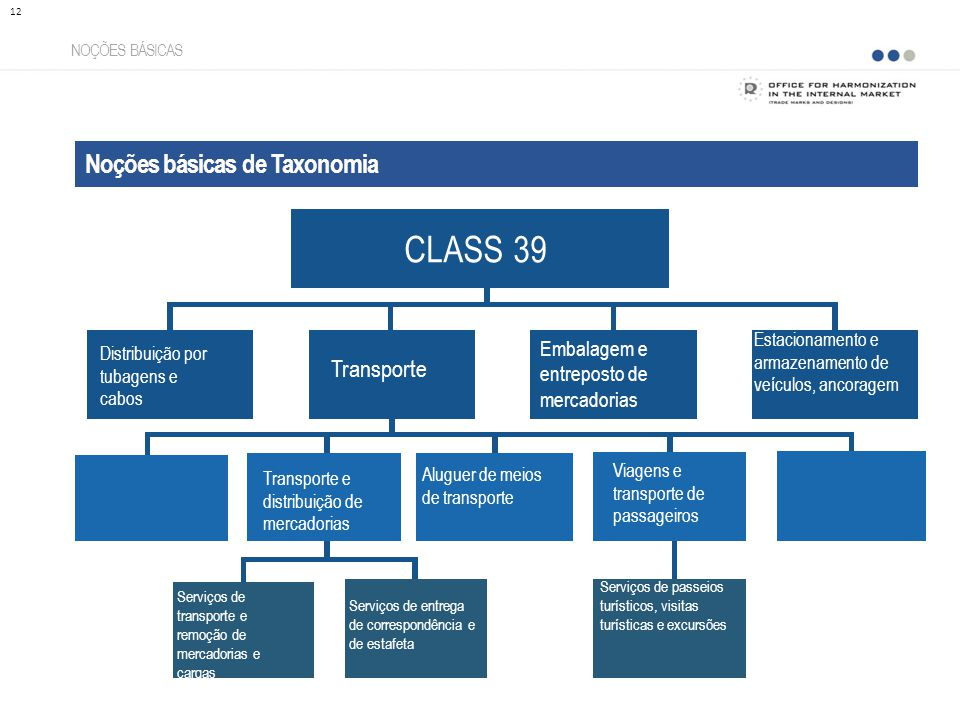 CLASS 39 Noções básicas de Taxonomia Transporte