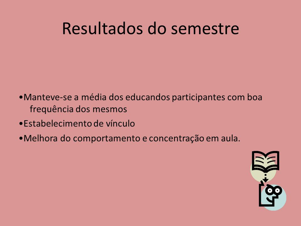 Resultados do semestre