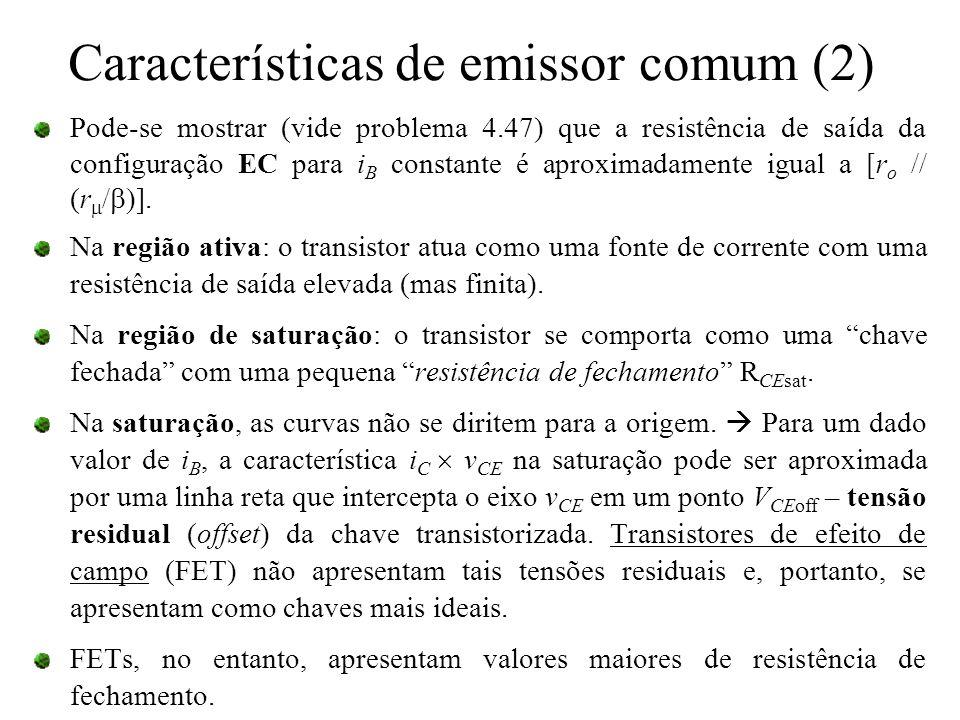 Características de emissor comum (2)
