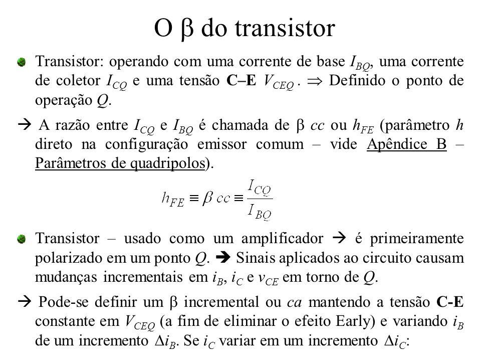 O b do transistor