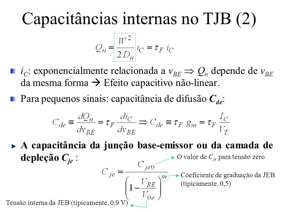Capacitâncias internas no TJB (2)