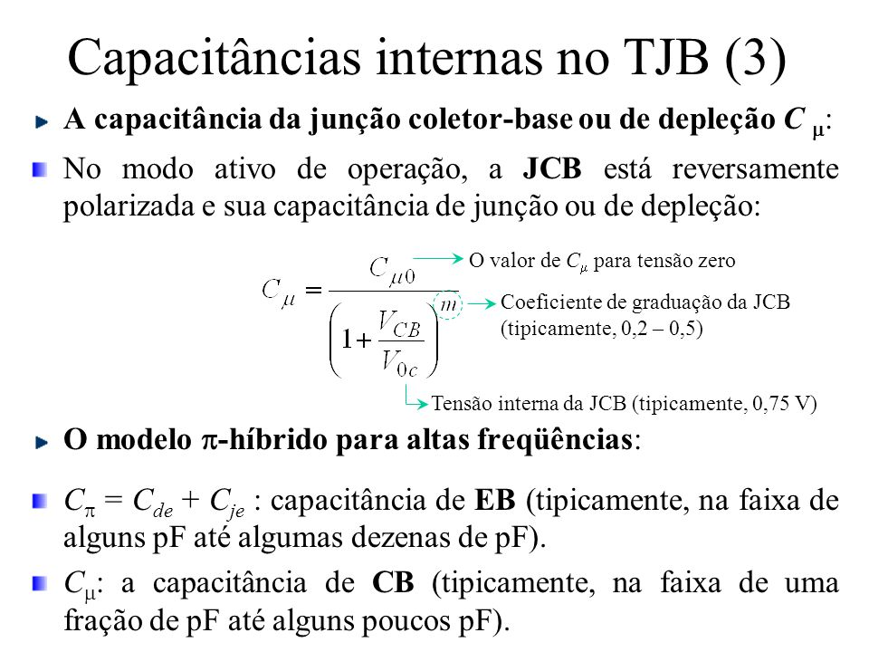 Capacitâncias internas no TJB (3)