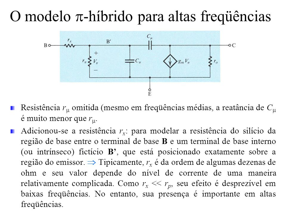 O modelo p-híbrido para altas freqüências