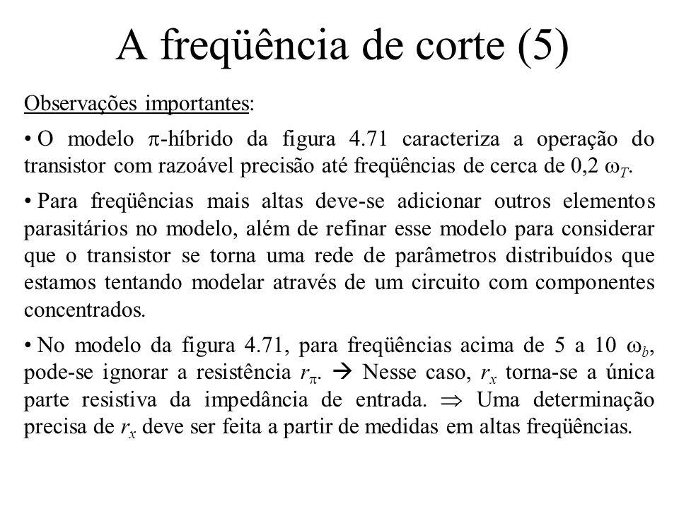 A freqüência de corte (5)