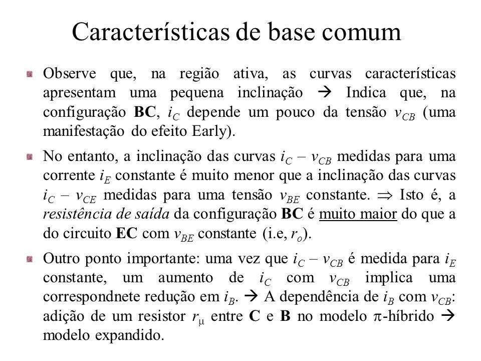 Características de base comum