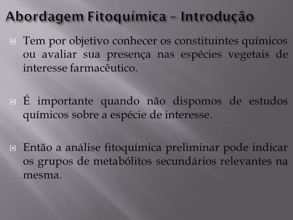 Abordagem Fitoquímica – Introdução