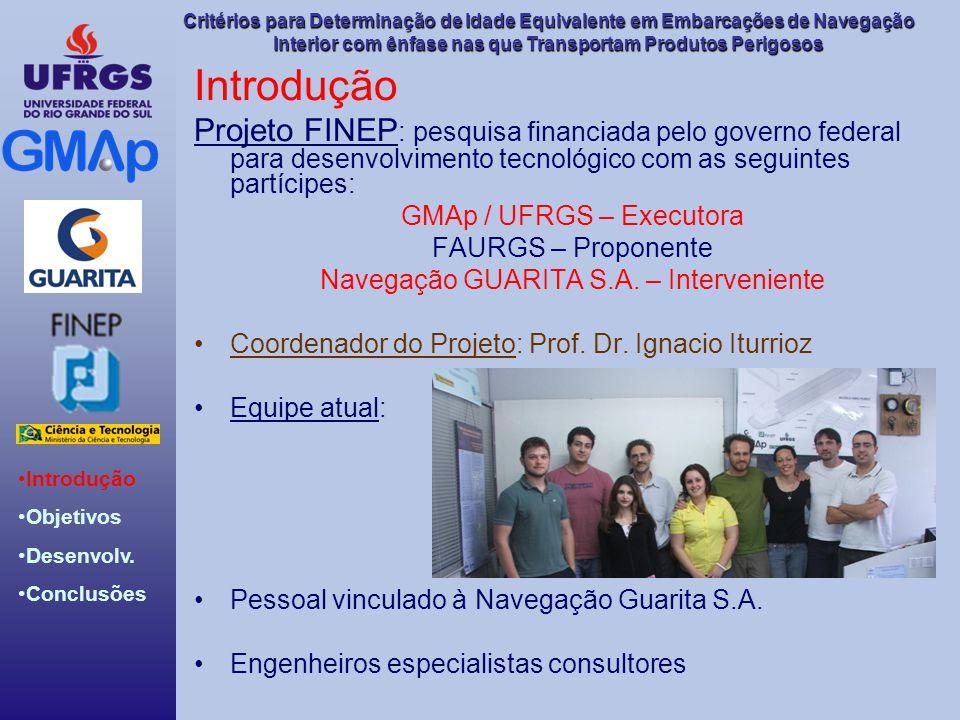 Introdução Projeto FINEP: pesquisa financiada pelo governo federal para desenvolvimento tecnológico com as seguintes partícipes: