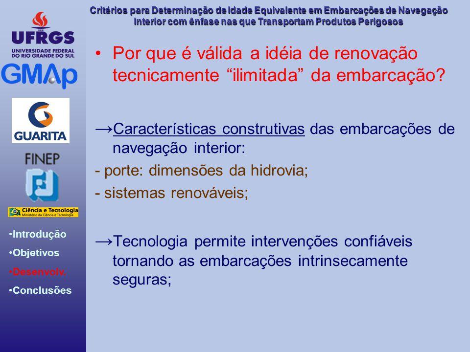 →Características construtivas das embarcações de navegação interior: