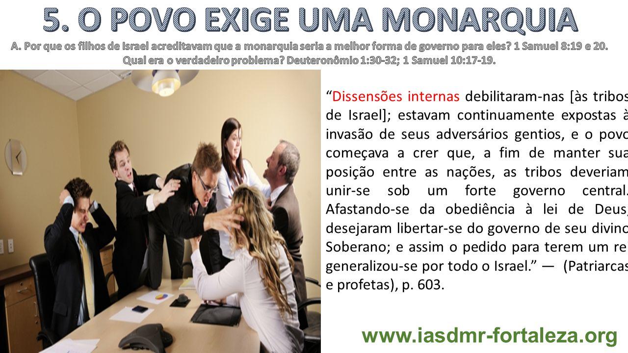 5. O POVO EXIGE UMA MONARQUIA