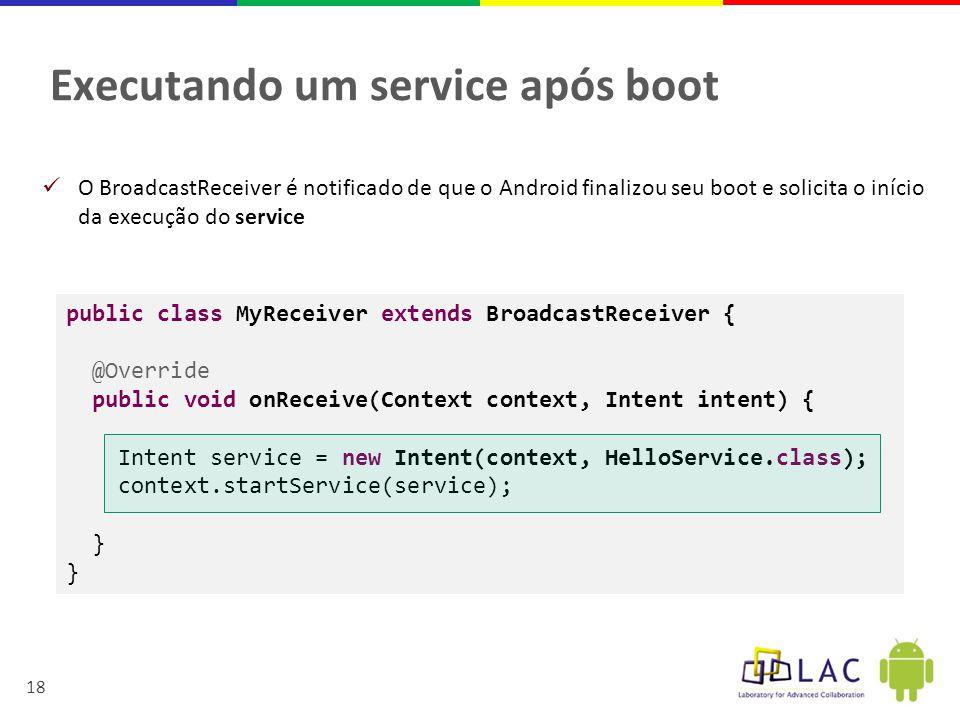 Executando um service após boot
