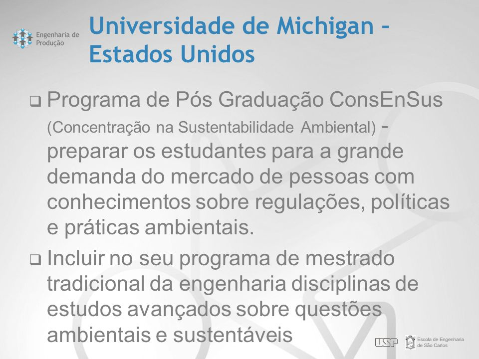 Universidade de Michigan – Estados Unidos
