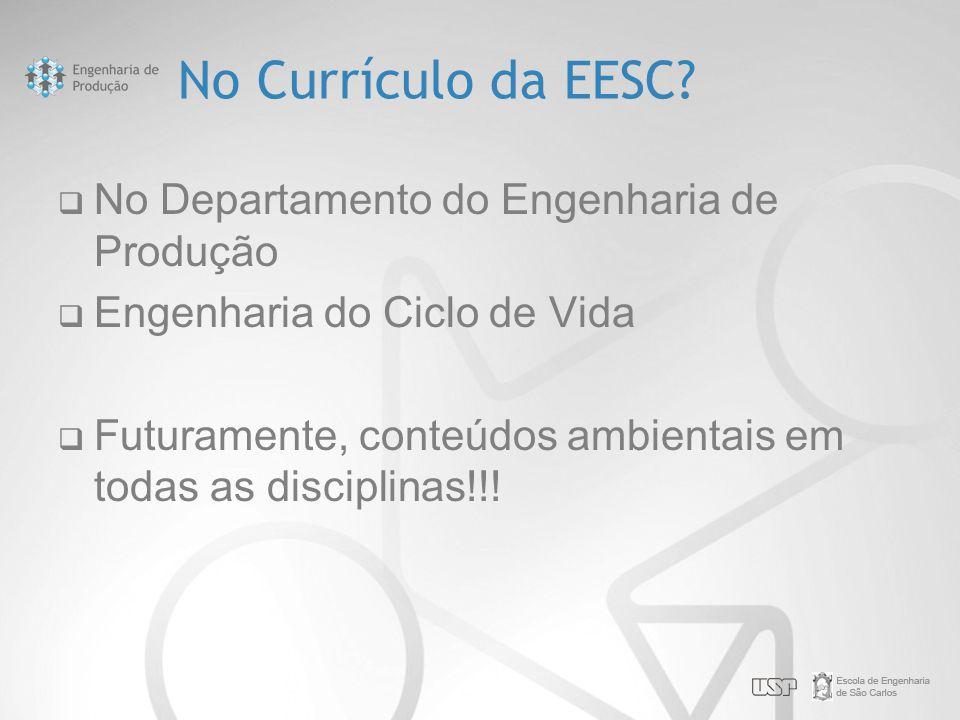 No Currículo da EESC No Departamento do Engenharia de Produção