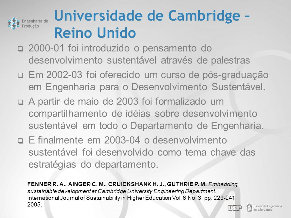 Universidade de Cambridge – Reino Unido