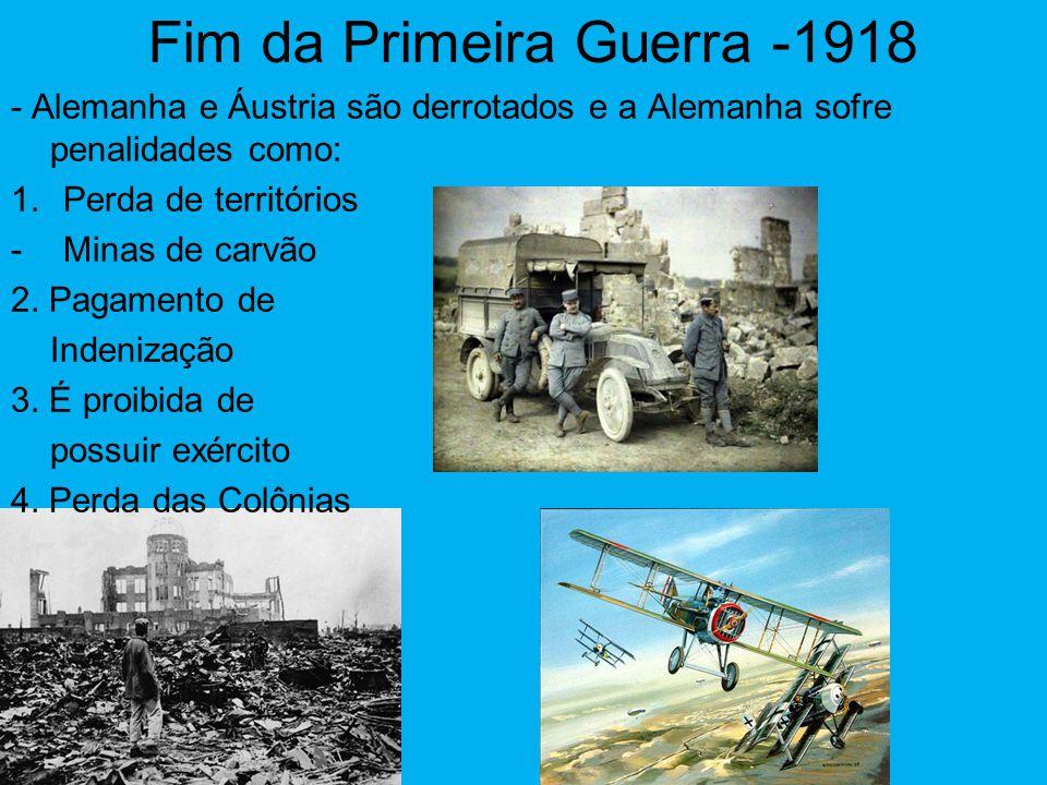 Fim da Primeira Guerra -1918