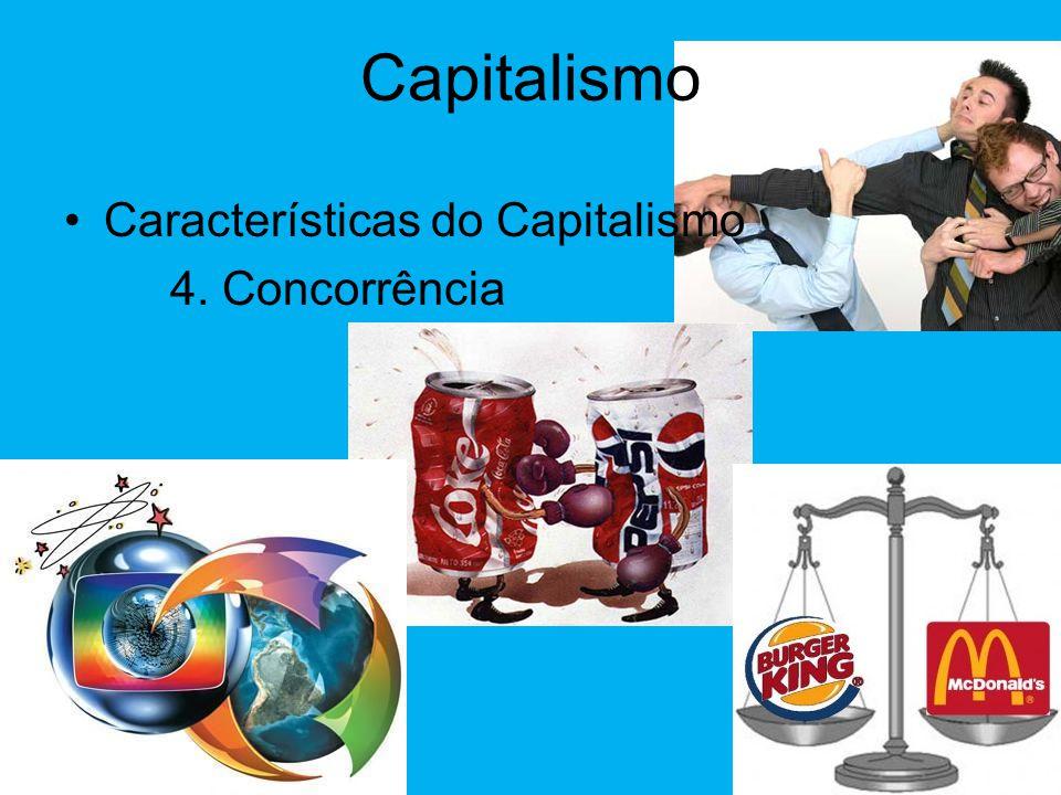 Capitalismo Características do Capitalismo 4. Concorrência