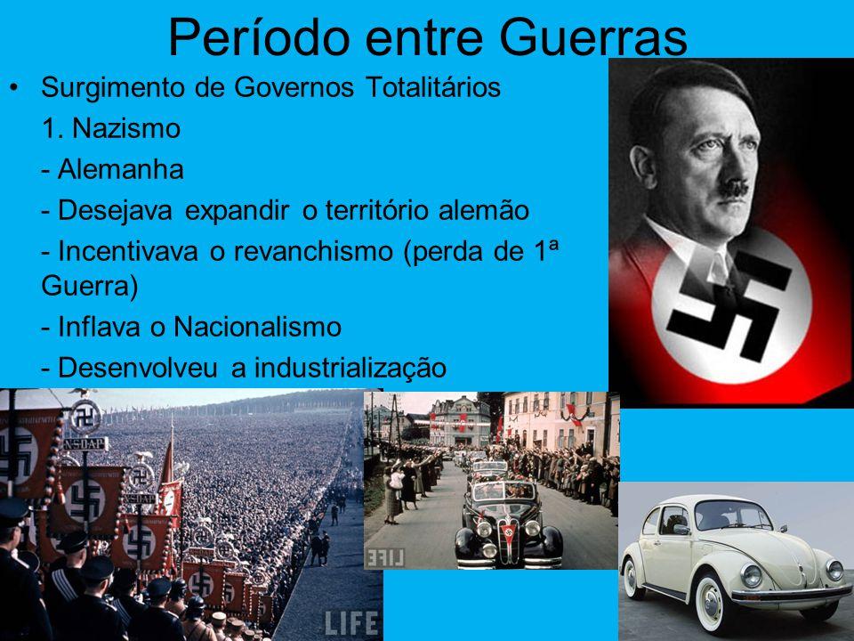 Período entre Guerras Surgimento de Governos Totalitários 1. Nazismo