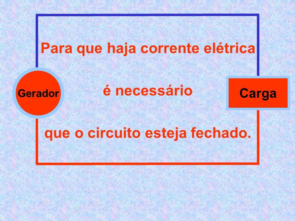 Para que haja corrente elétrica que o circuito esteja fechado.