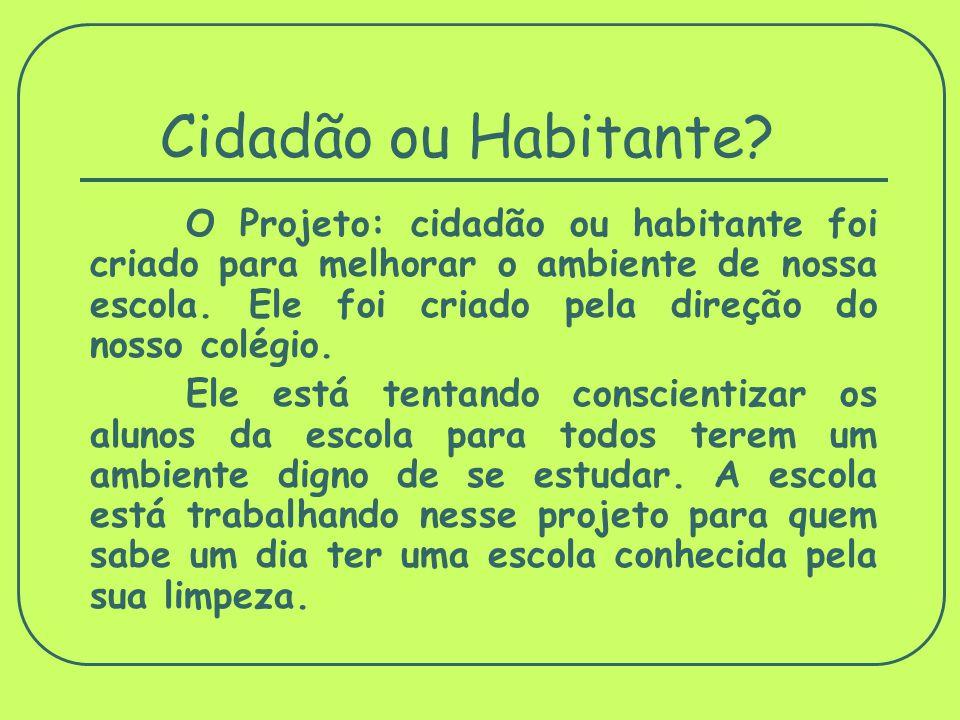 Cidadão ou Habitante