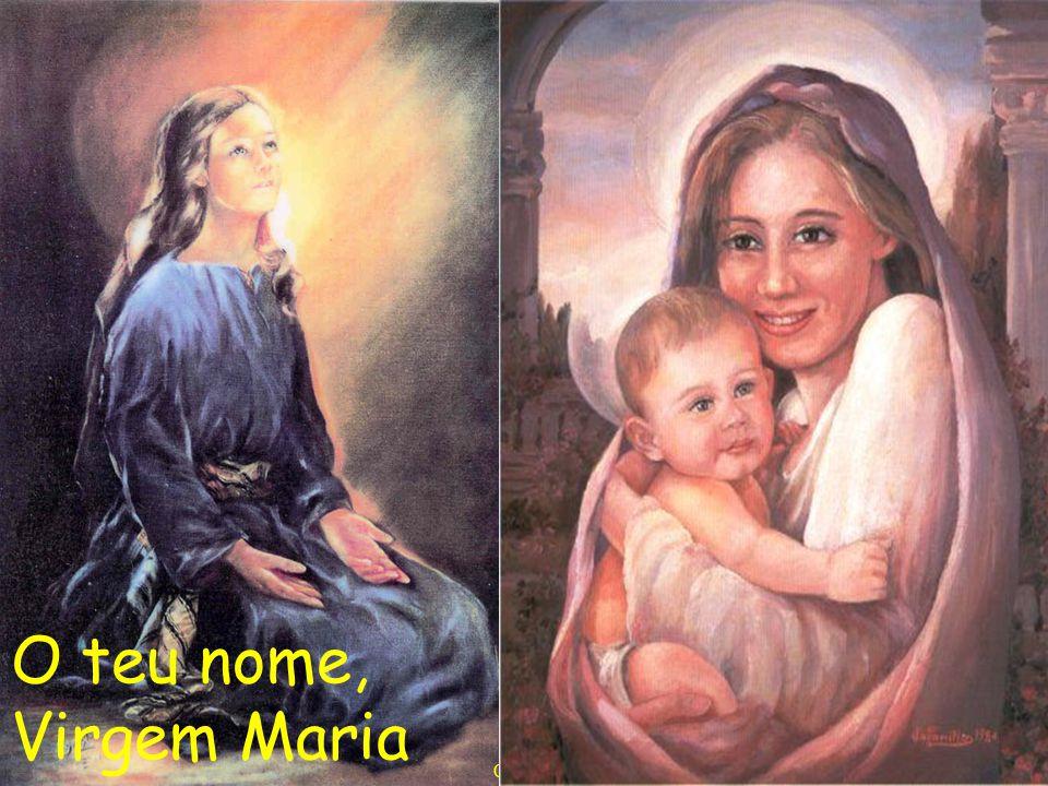 O teu nome, Virgem Maria Composición: Juan Braulio Arzoz fms