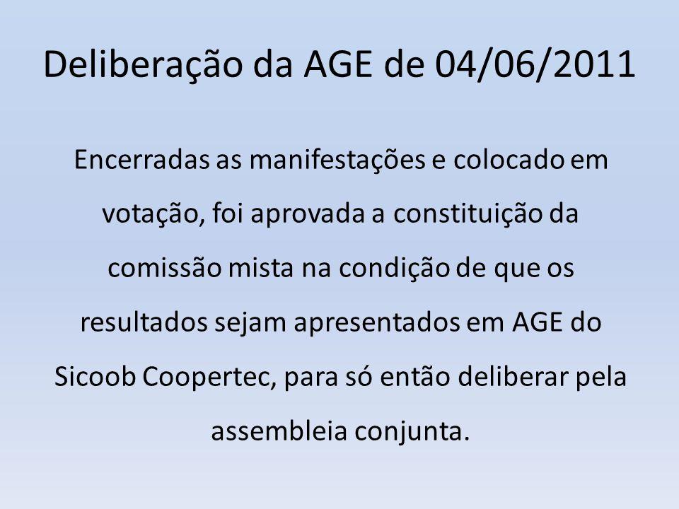 Deliberação da AGE de 04/06/2011