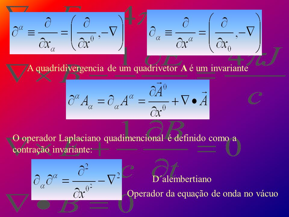 A quadridivergencia de um quadrivetor A é um invariante