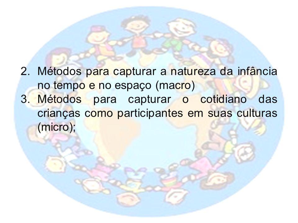 Métodos para capturar a natureza da infância no tempo e no espaço (macro)