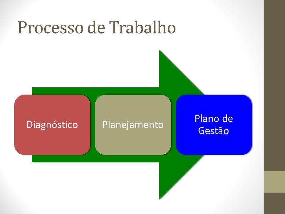 Processo de Trabalho Diagnóstico Planejamento Plano de Gestão