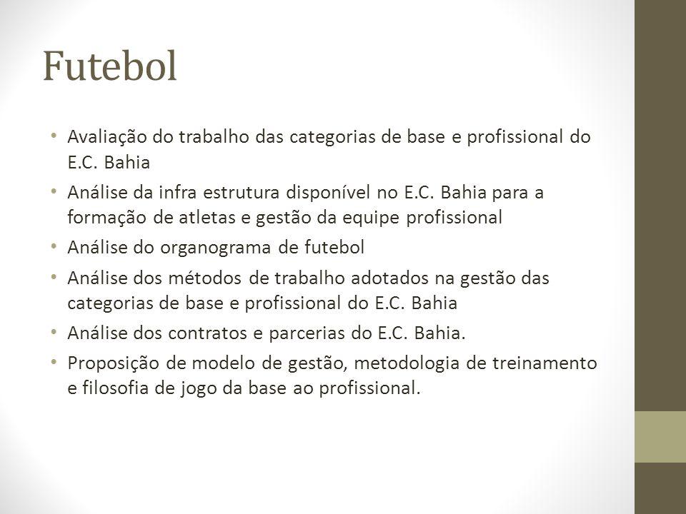 Futebol Avaliação do trabalho das categorias de base e profissional do E.C. Bahia.