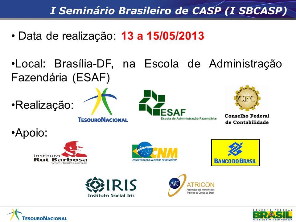 Data de realização: 13 a 15/05/2013