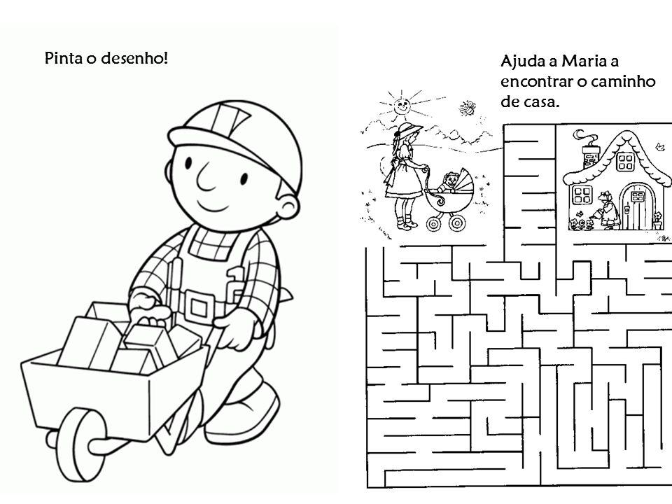 Pinta o desenho! Ajuda a Maria a encontrar o caminho de casa.
