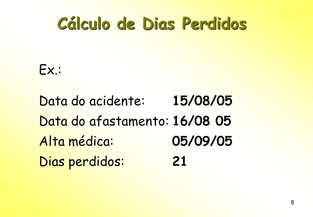 Cálculo de Dias Perdidos