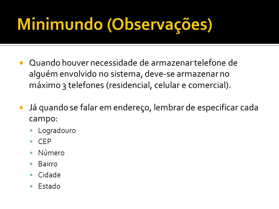 Minimundo (Observações)