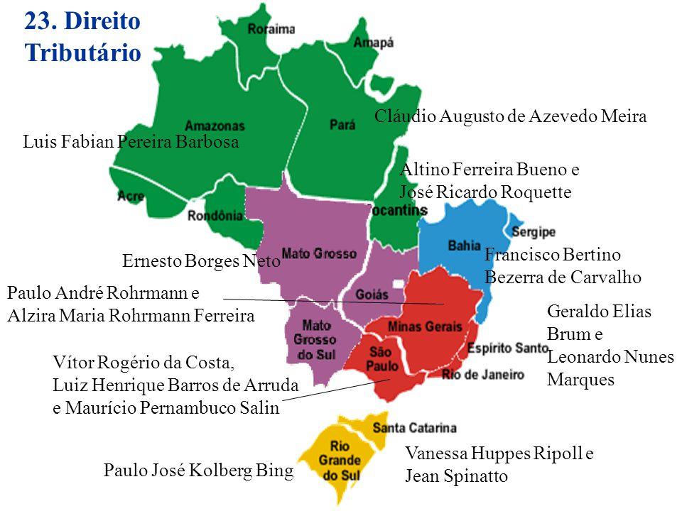 23. Direito Tributário Cláudio Augusto de Azevedo Meira