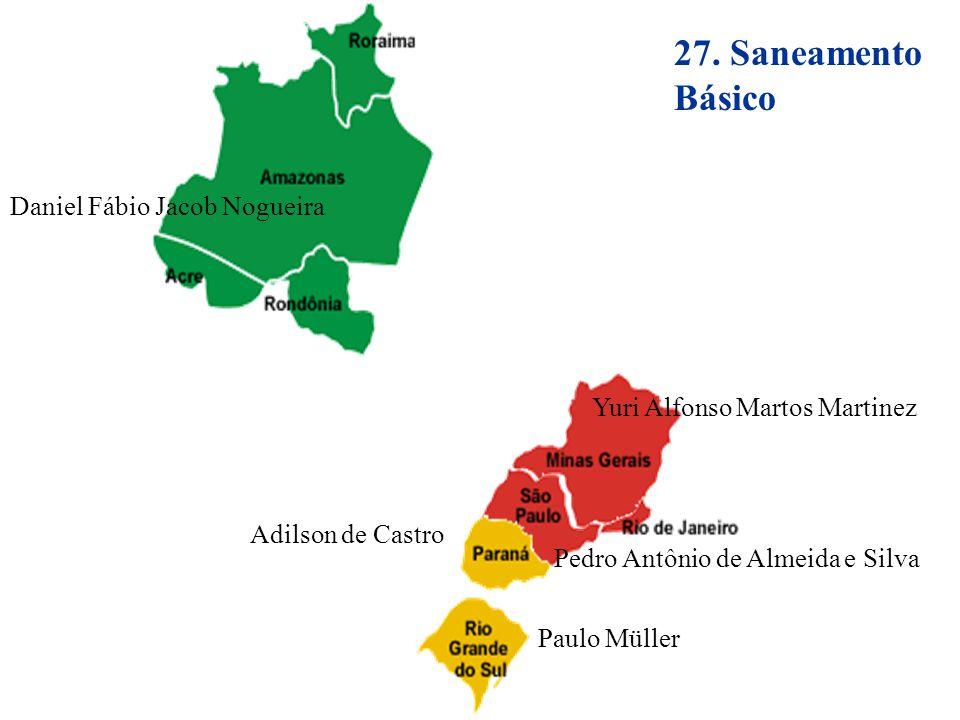 27. Saneamento Básico Daniel Fábio Jacob Nogueira