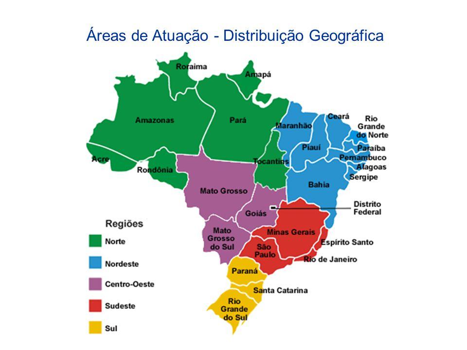 Áreas de Atuação - Distribuição Geográfica