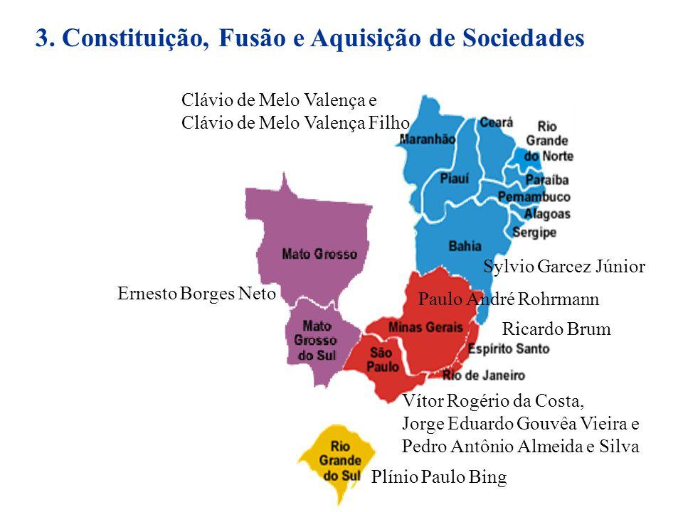 3. Constituição, Fusão e Aquisição de Sociedades