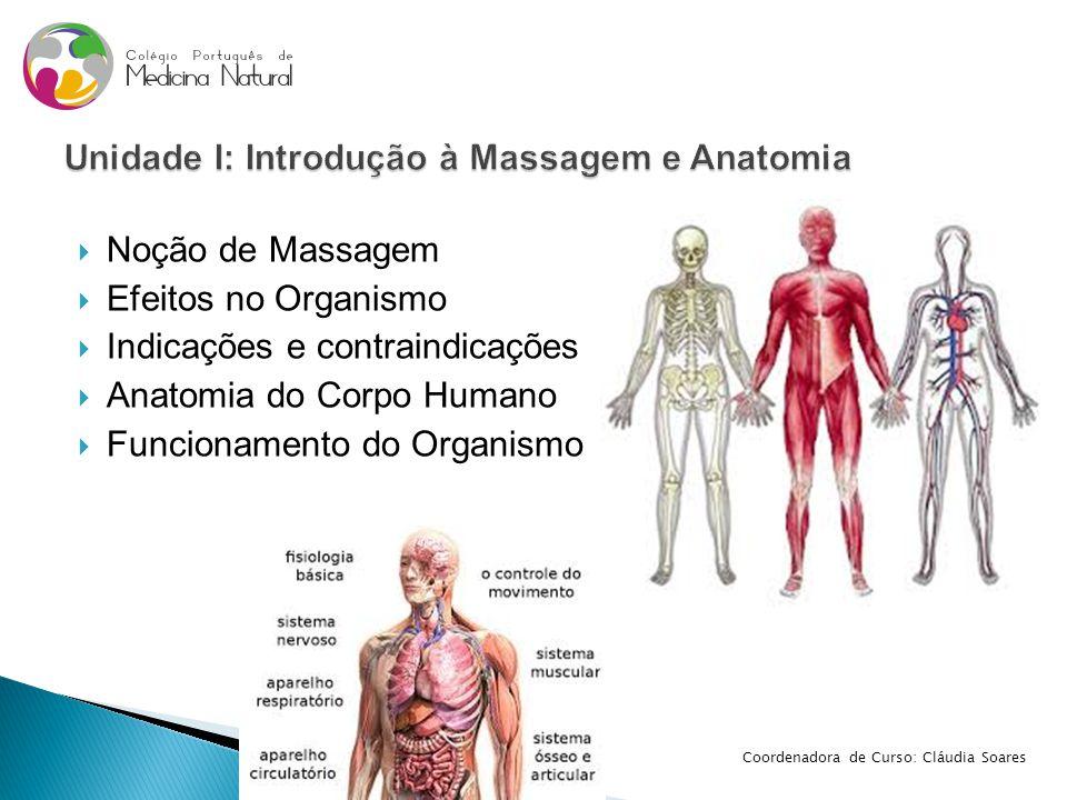 Unidade I: Introdução à Massagem e Anatomia