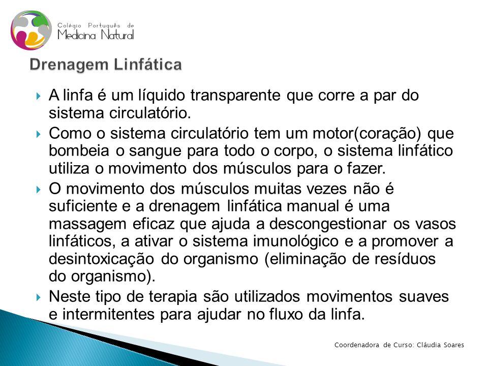 Drenagem Linfática A linfa é um líquido transparente que corre a par do sistema circulatório.
