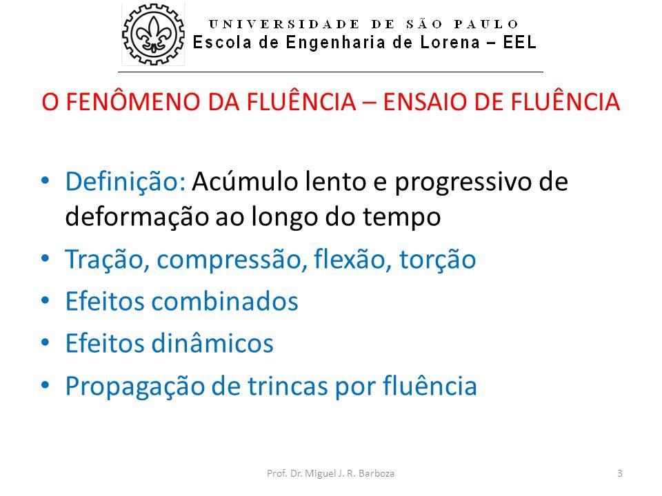 O FENÔMENO DA FLUÊNCIA – ENSAIO DE FLUÊNCIA