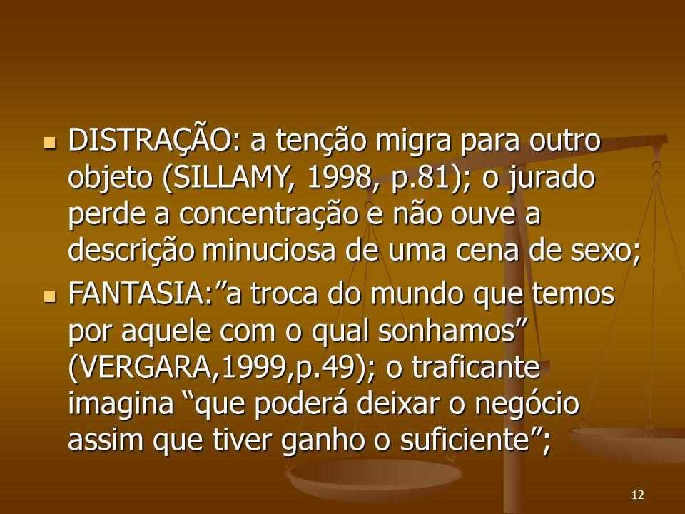 DISTRAÇÃO: a tenção migra para outro objeto (SILLAMY, 1998, p