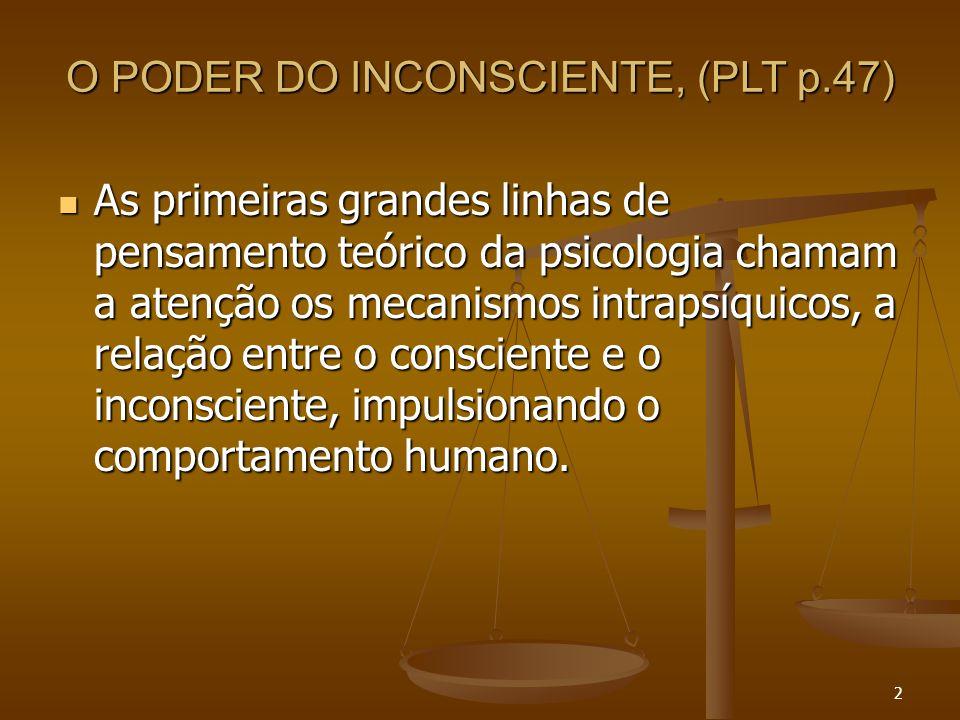 O PODER DO INCONSCIENTE, (PLT p.47)