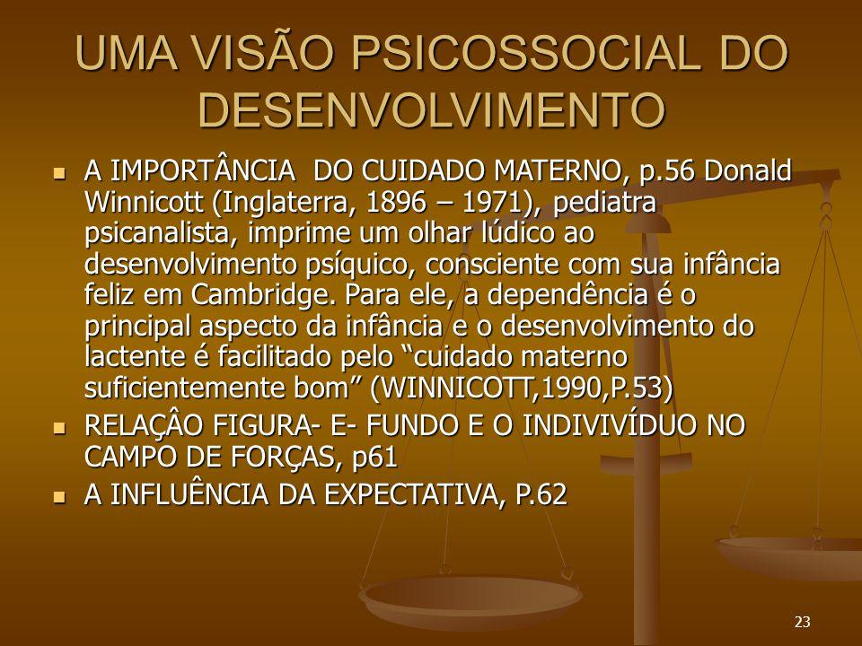 UMA VISÃO PSICOSSOCIAL DO DESENVOLVIMENTO
