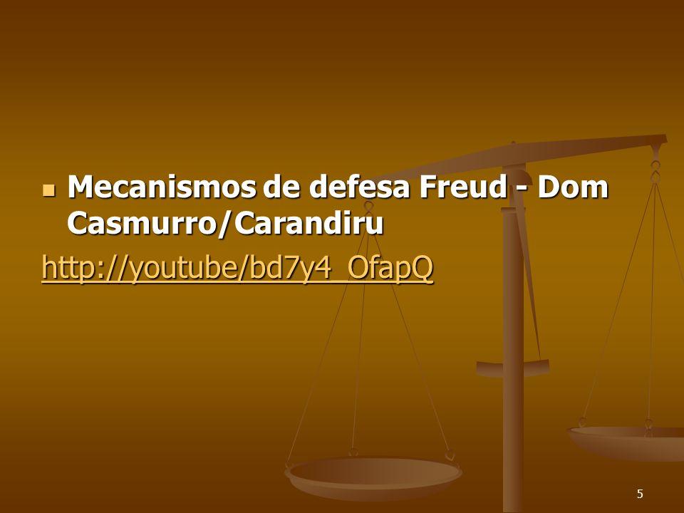 Mecanismos de defesa Freud - Dom Casmurro/Carandiru